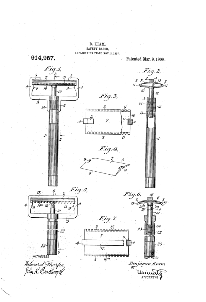 Patent drawing from US 914 957