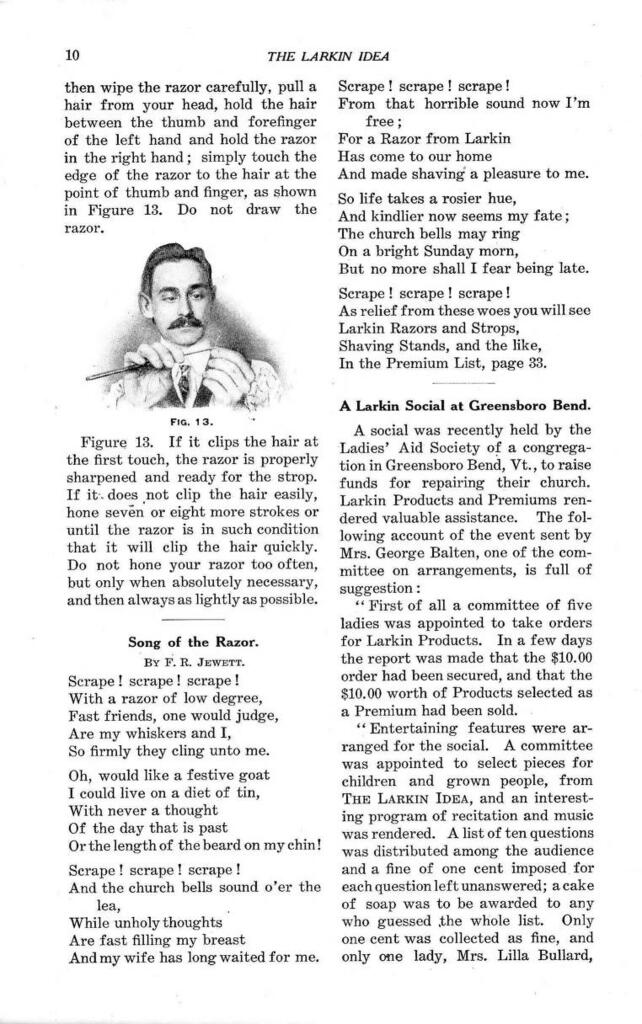 Reprint of a page from the Larkin Idea