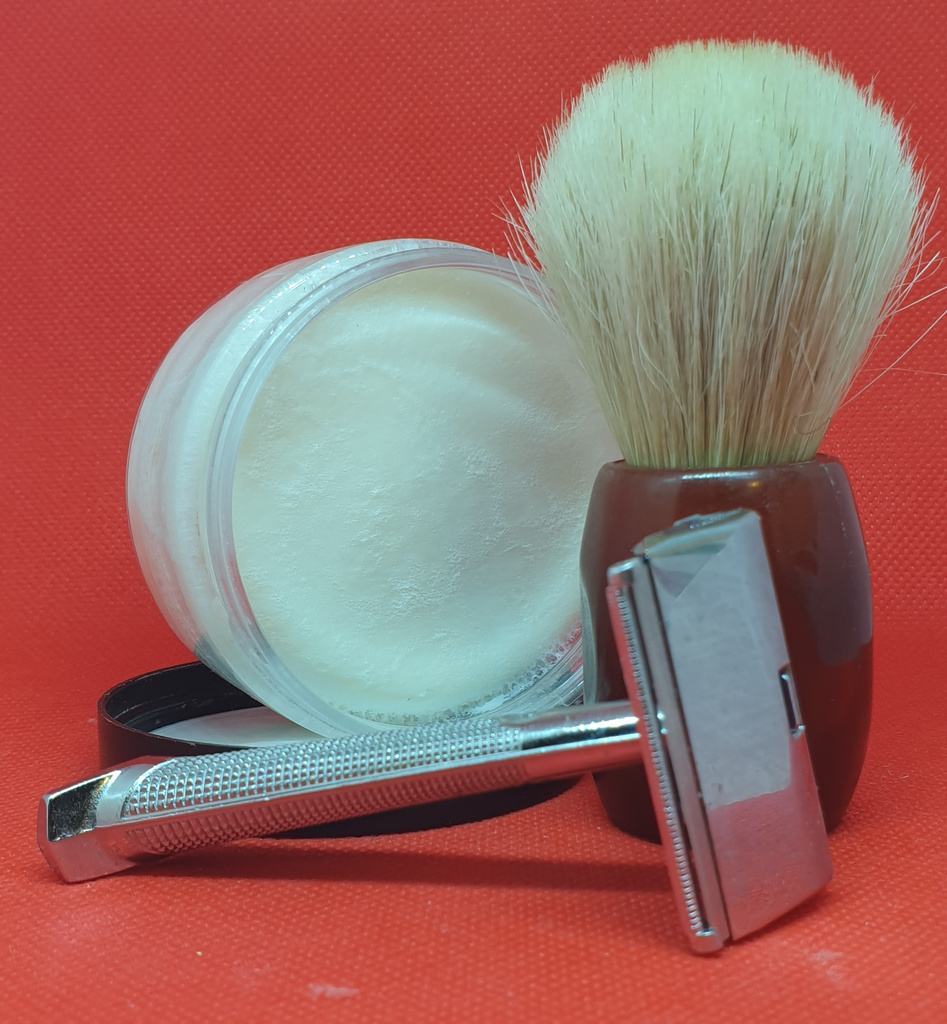 Vintage razor and one of the oldest shaving soap brands